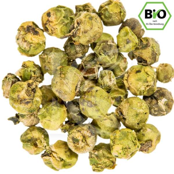 Grüner Pfeffer, ganz, Bio in unserem Onlineshop kaufen