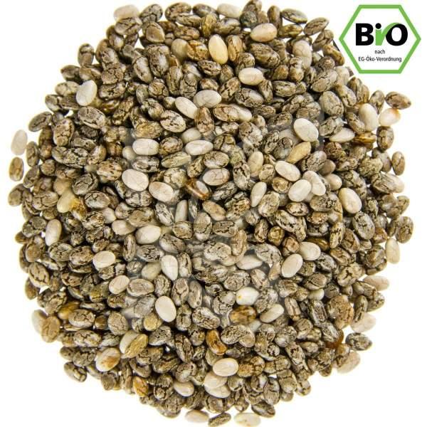 Chia Samen schwarz weiß, bio