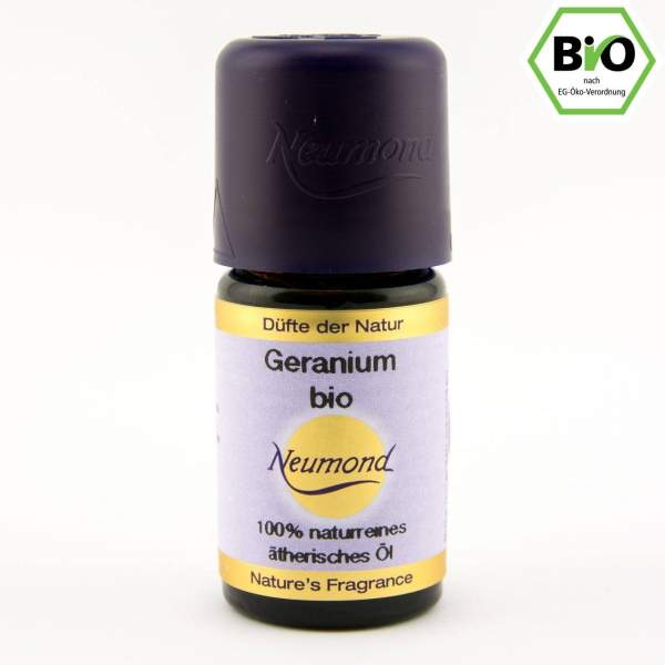 Geranium, Rosenpelargonie, ätherisches Öl, BIO