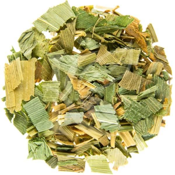 Bambusblätter getrocknet als Bambustee